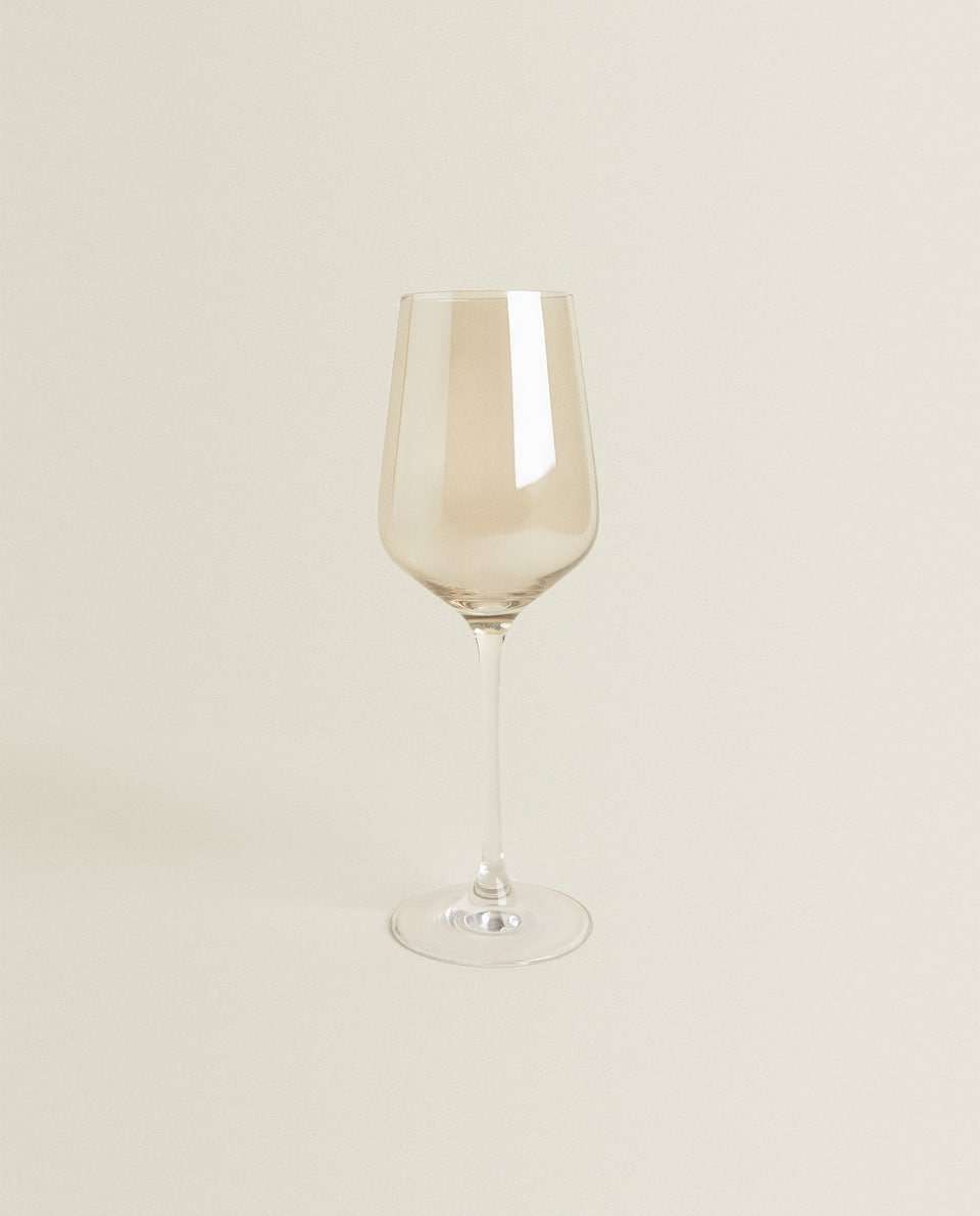 MERCURISED-EFFECT CRYSTALLINE WINE GLASS
