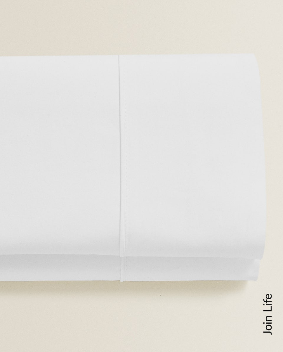 COTTON PERCALE FLAT SHEET (300 THREAD COUNT)