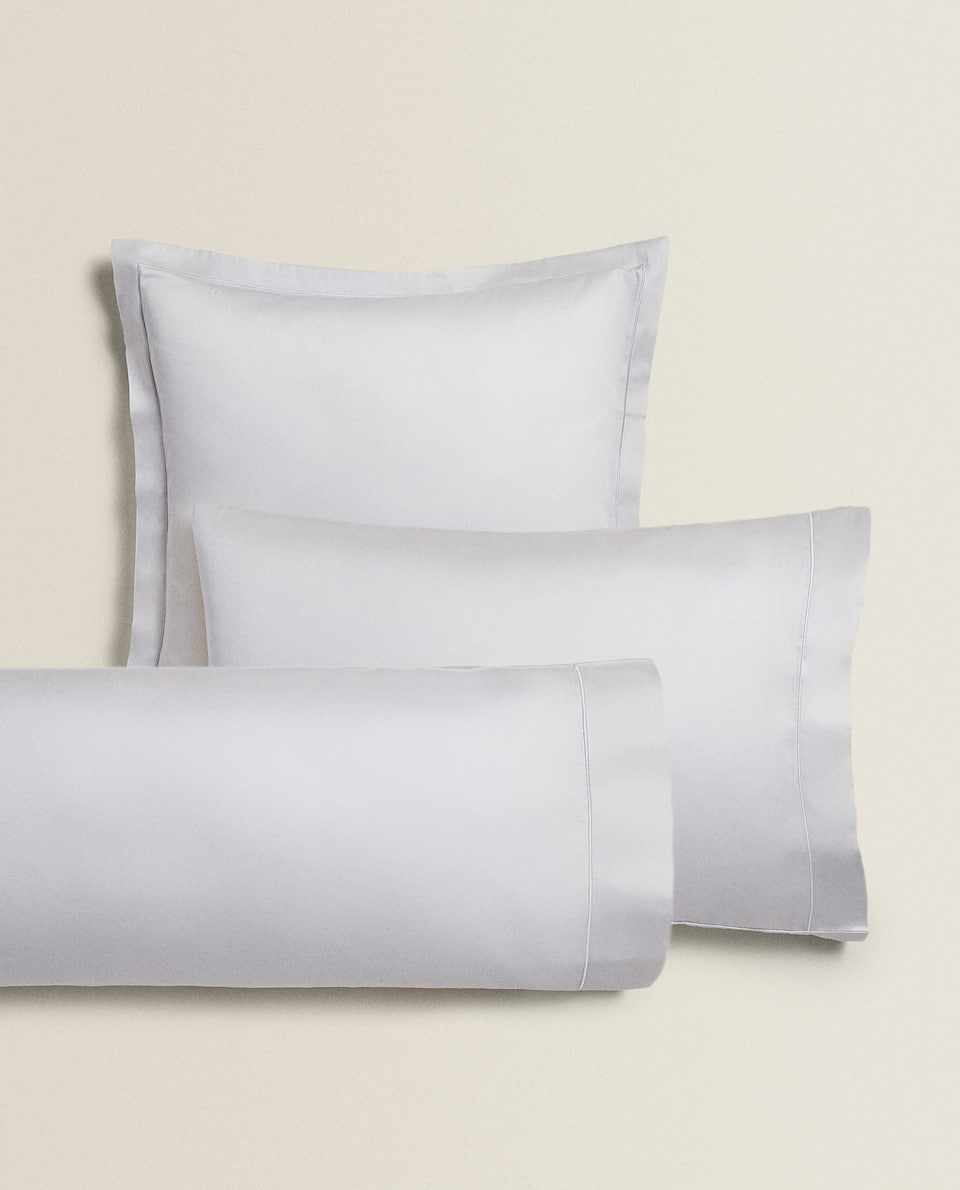 (300 THREAD COUNT) SATEEN PILLOWCASE WITH TRIM