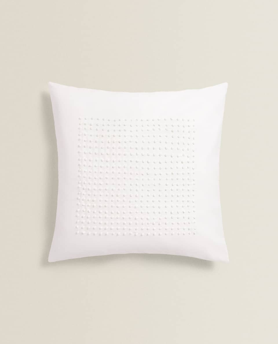 WHITEWORK CUSHION COVER