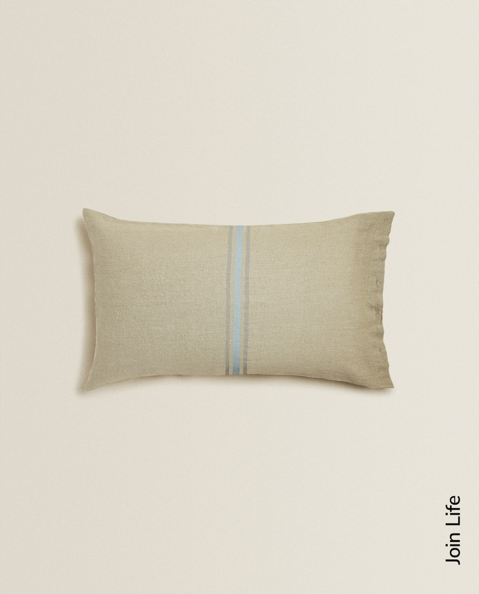 LINEN STRIPE CUSHION COVER