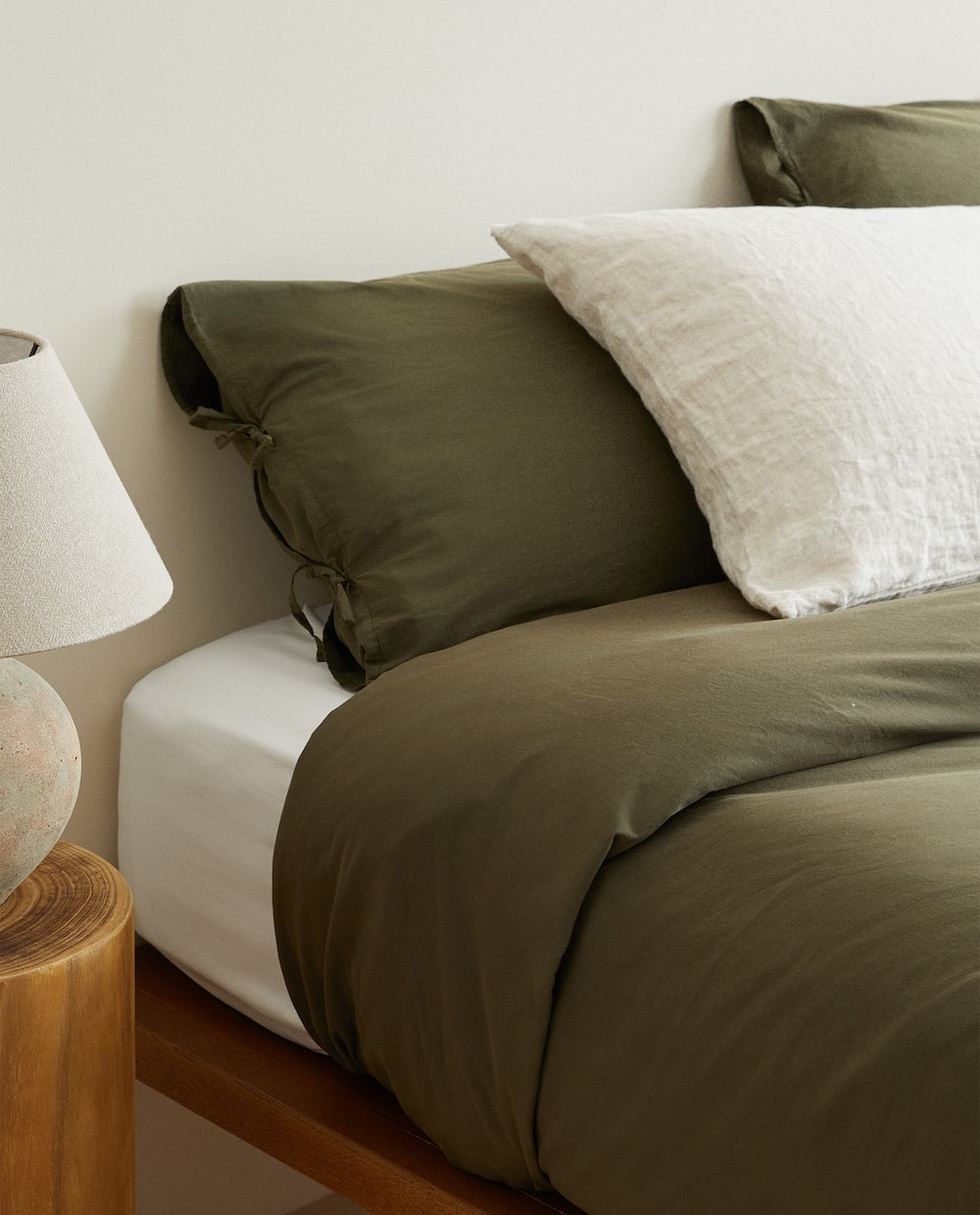 DUVET COVER WITH BOW DETAIL
