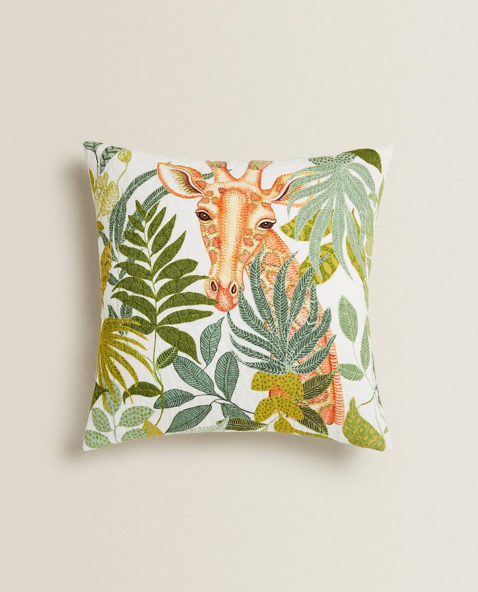 TROPICAL GIRAFFE CUSHION