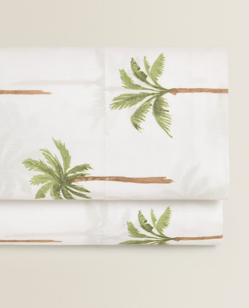 PALM TREE PRINT FLAT SHEET
