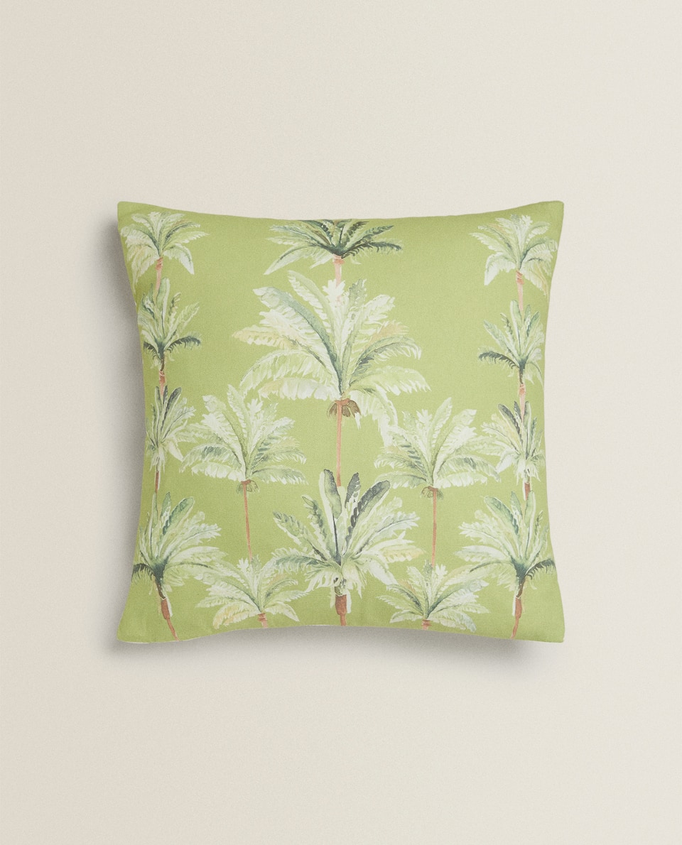 PALM TREE CUSHION COVER