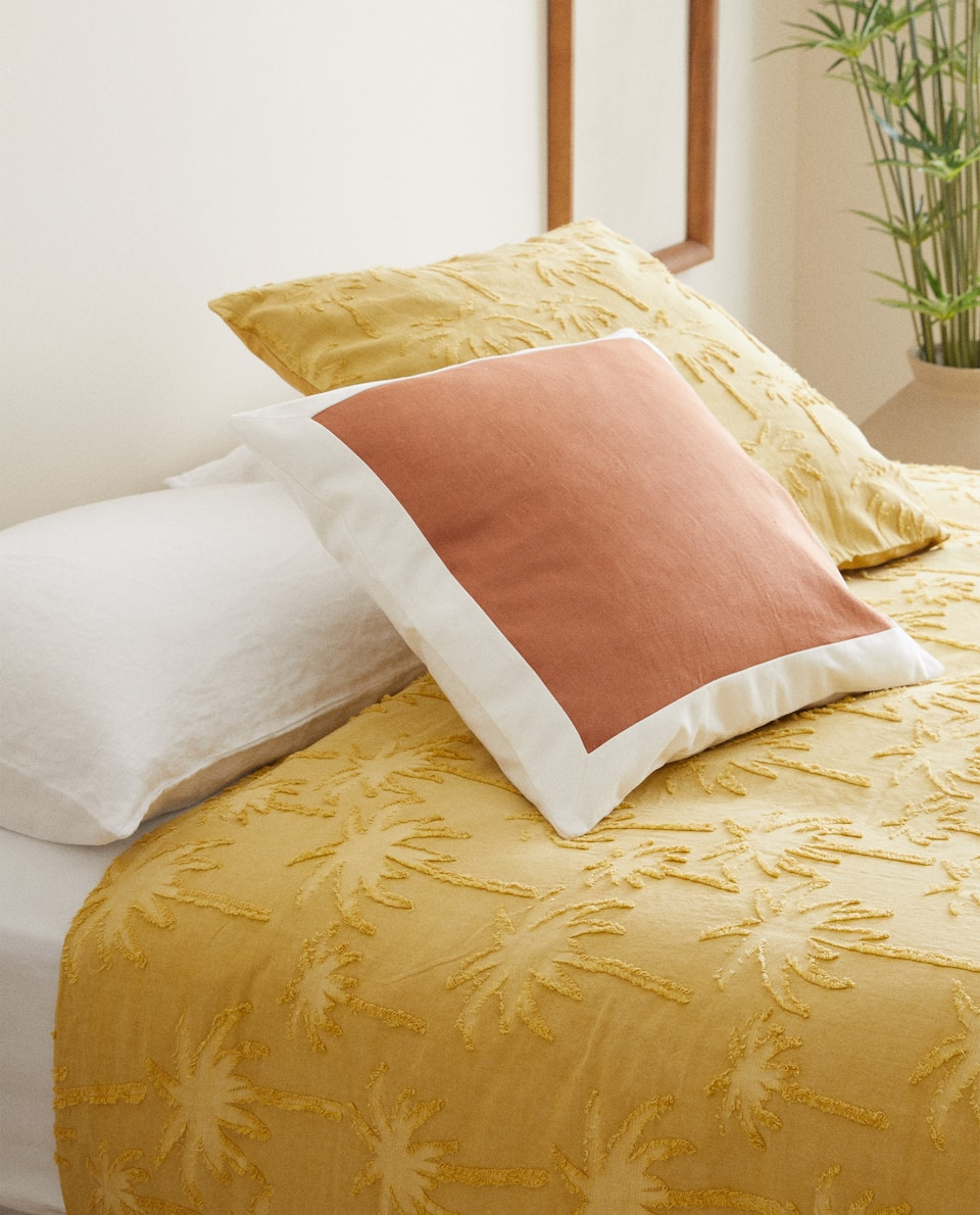 JACQUARD PALM TREE DUVET COVER