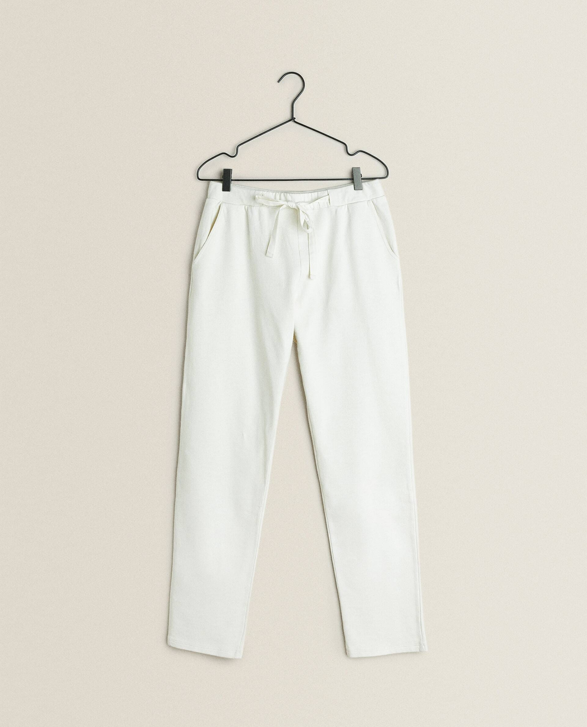 Straight Fit Cotton Trousers Collection New Arrivals Zara Home Canada