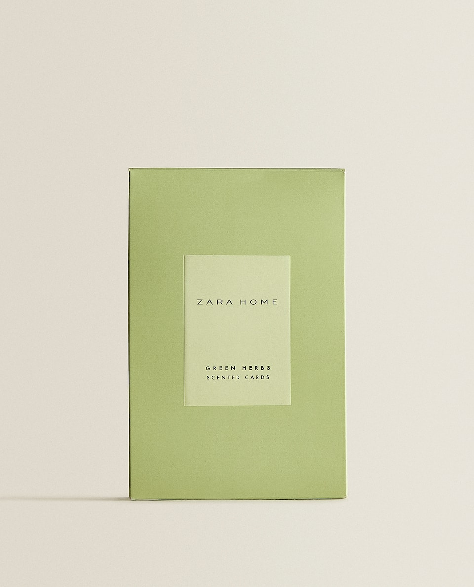 GREEN HERBS SCENTED CARDS