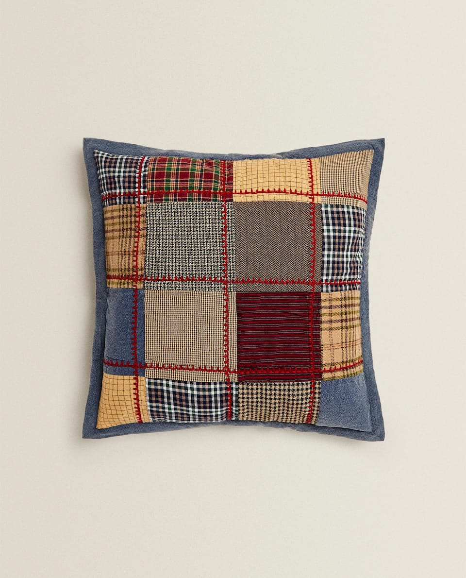 CHRISTMAS PATCHWORK CUSHION COVER