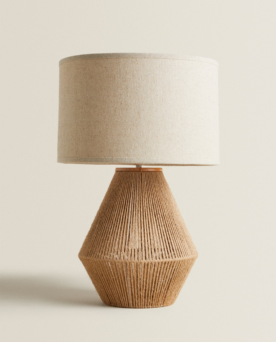 LAMP WITH JUTE BASE