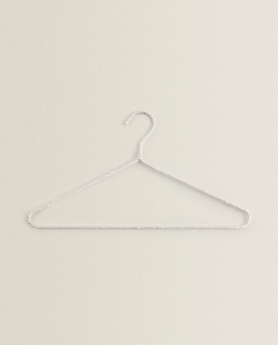 BEIGE COTTON AND LINEN HANGER (PACK OF 4)