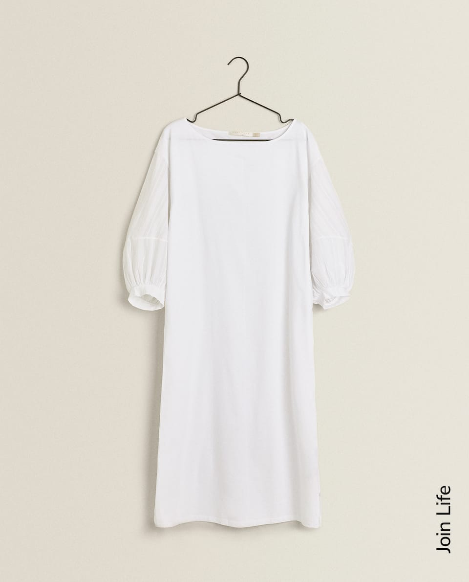 BALLOON SLEEVE NIGHTDRESS