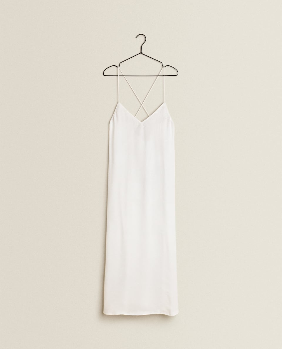 NIGHTDRESS IN EMBROIDERED SATIN
