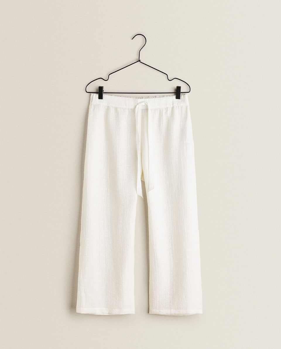 MIXED FABRIC TROUSERS