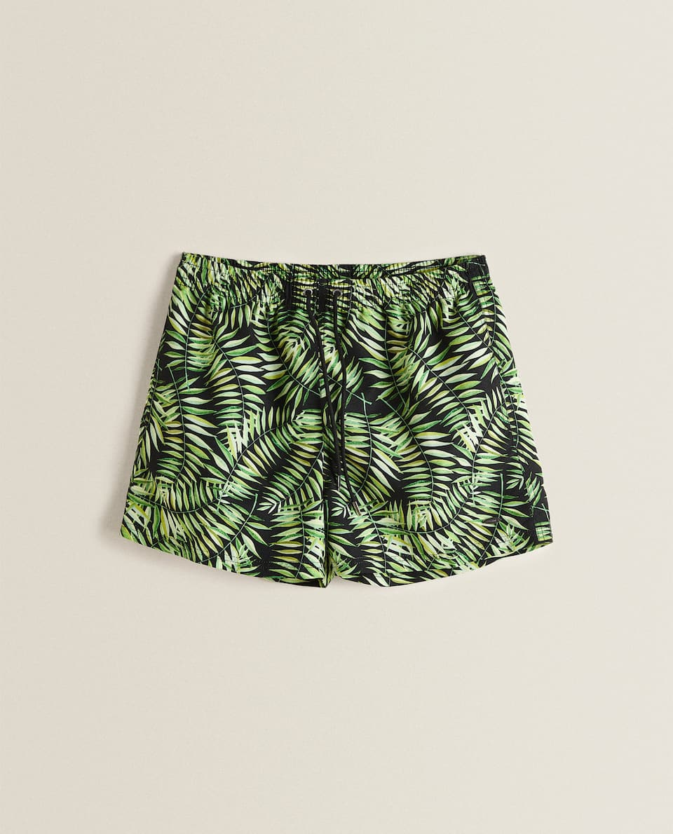 LEAF PRINT SWIMMING TRUNKS