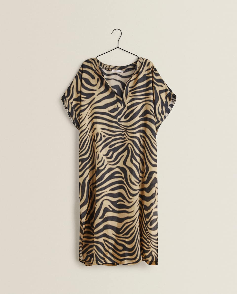 ANIMAL PRINT SILK TUNIC