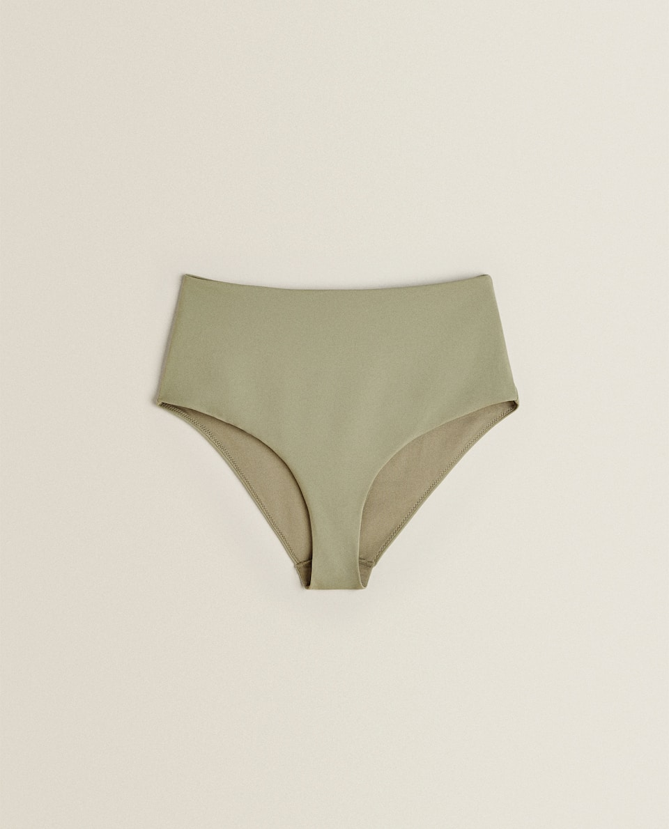 GREEN HIGH-WAIST BIKINI BOTTOMS