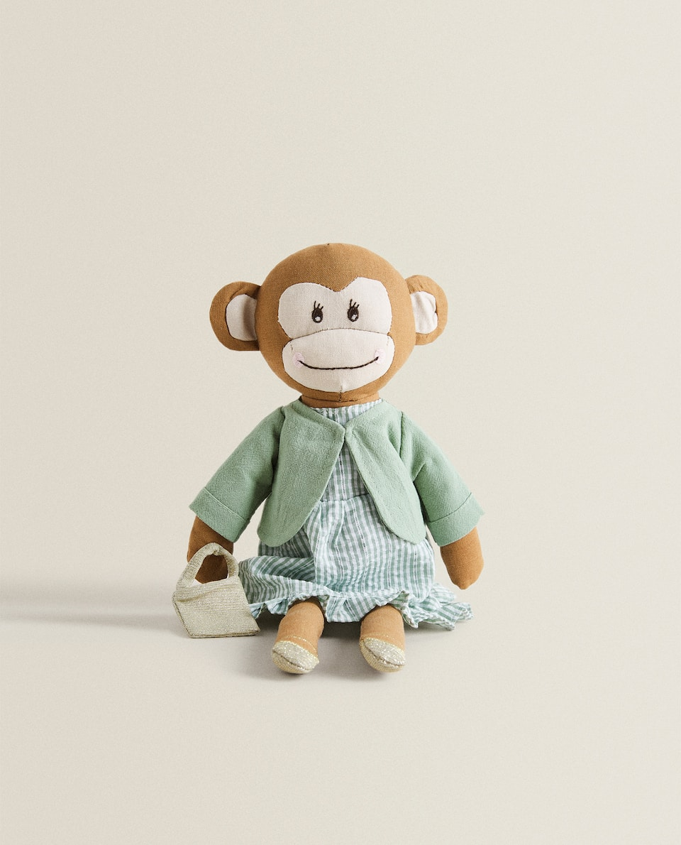 MONKEY SOFT TOY WITH DRESS