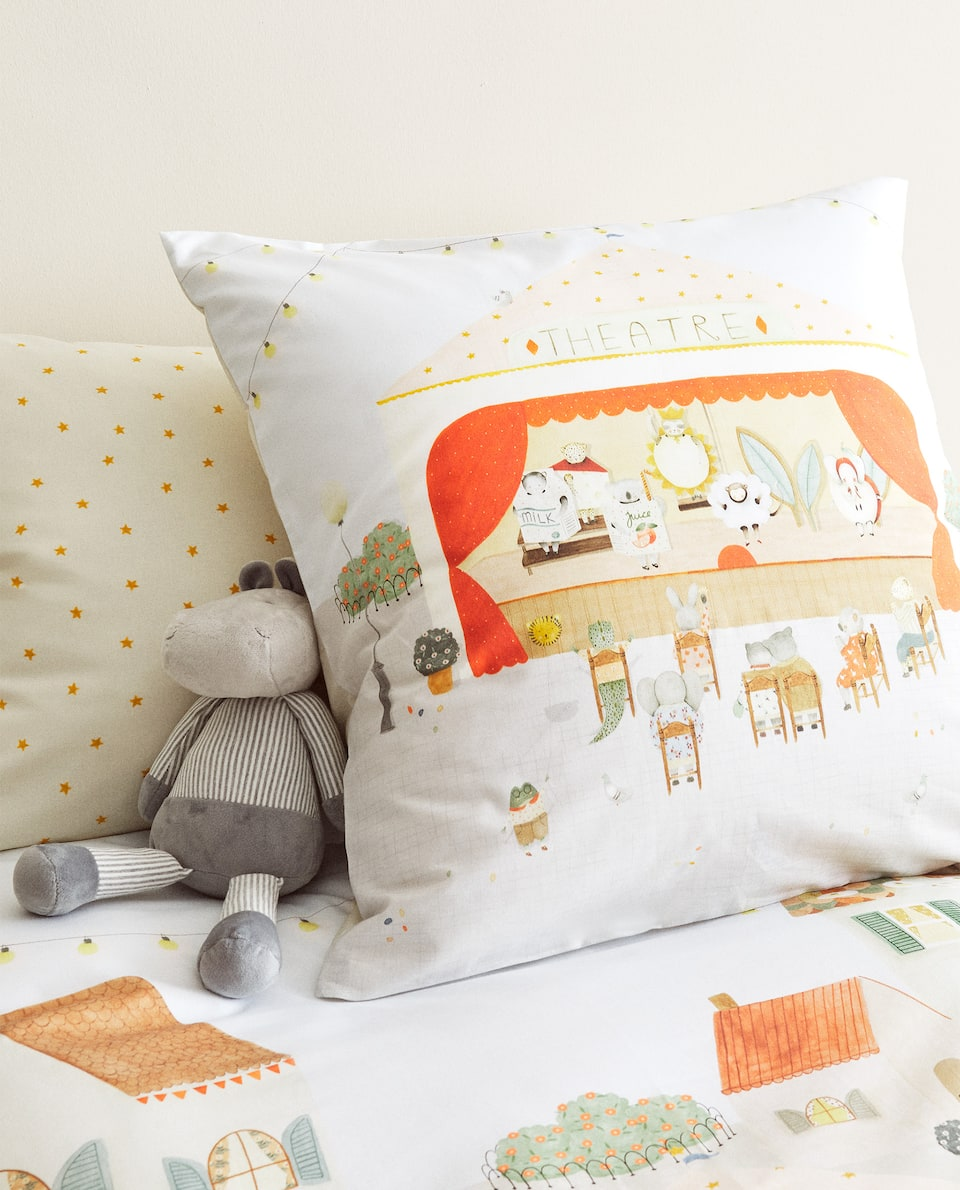 REVERSIBLE THEATRE PRINT DUVET COVER