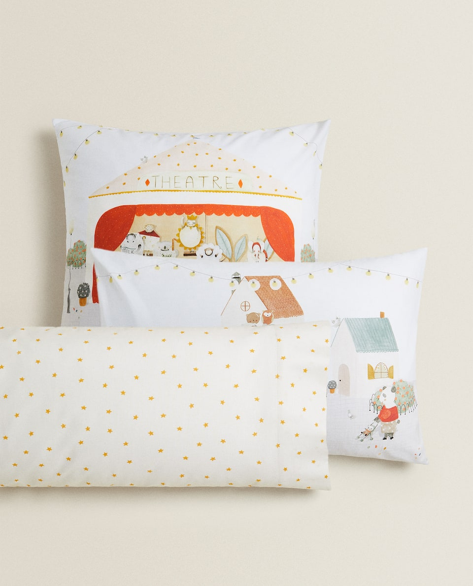 REVERSIBLE THEATRE PRINT PILLOWCASE