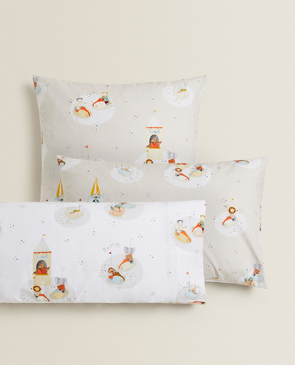 BUMPER CAR PRINT PILLOWCASE