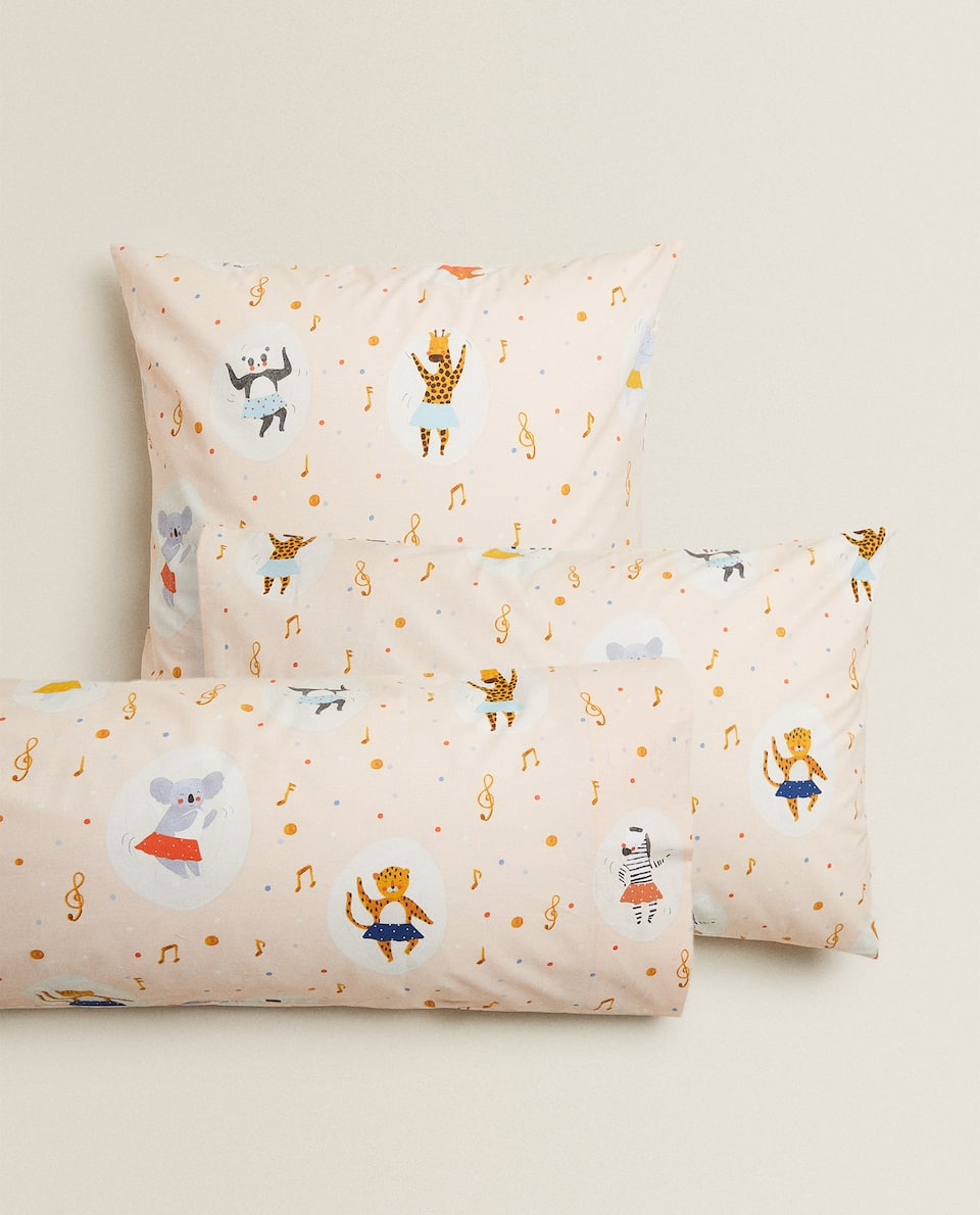 LITTLE ANIMALS PRINT PILLOWCASE