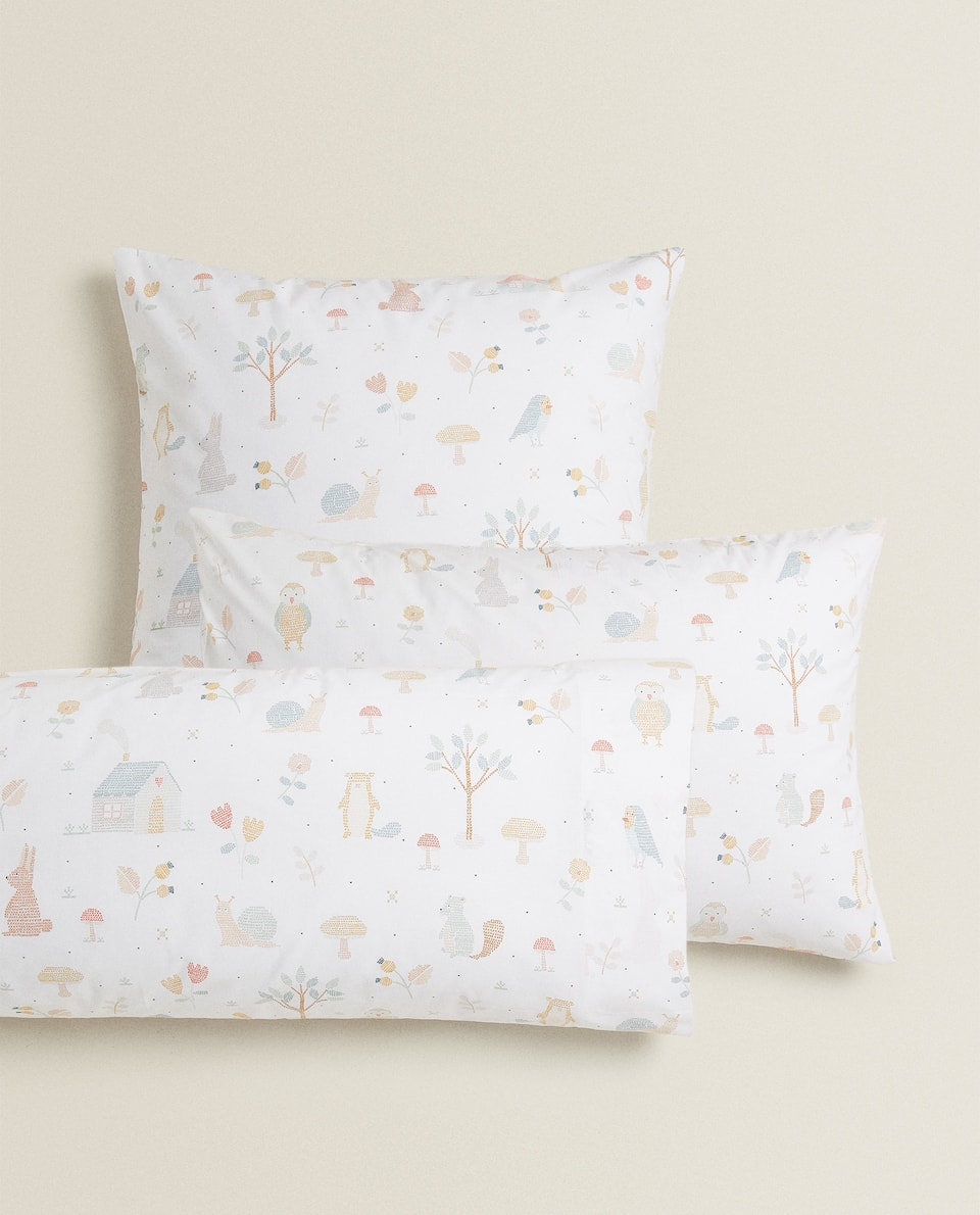 CROSS-STITCH PRINT PILLOWCASE