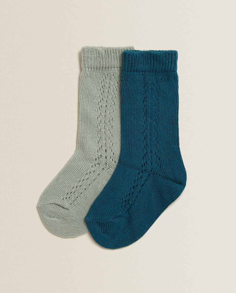 OPEN KNIT SOCKS (SET OF 2 PAIRS)