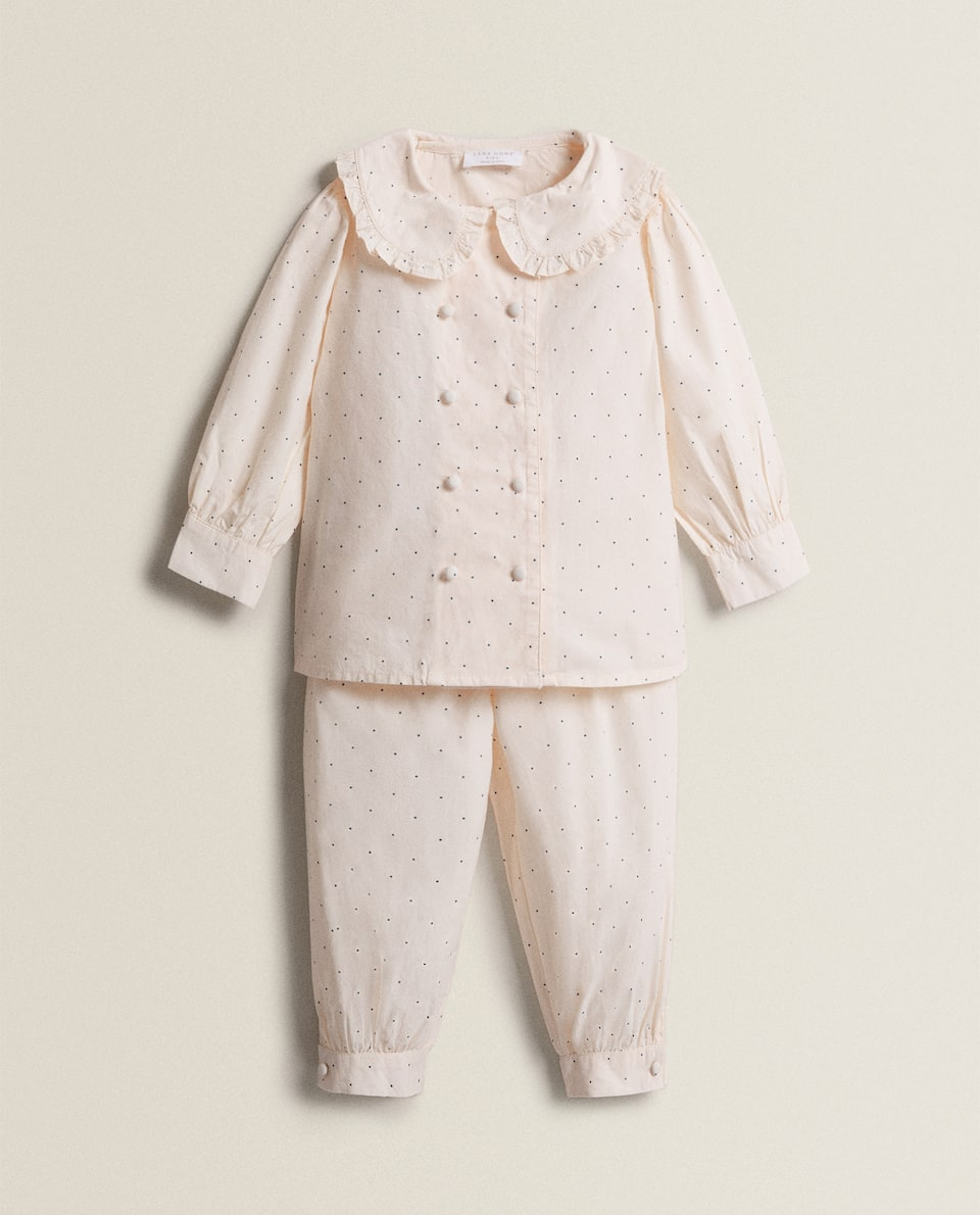 COTTON SET OF PYJAMAS WITH POLKA DOTS