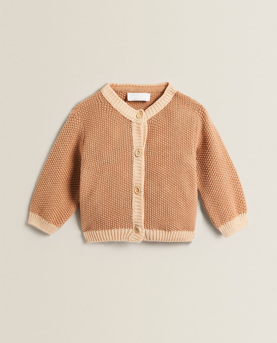 COTTON TRICOT CARDIGAN