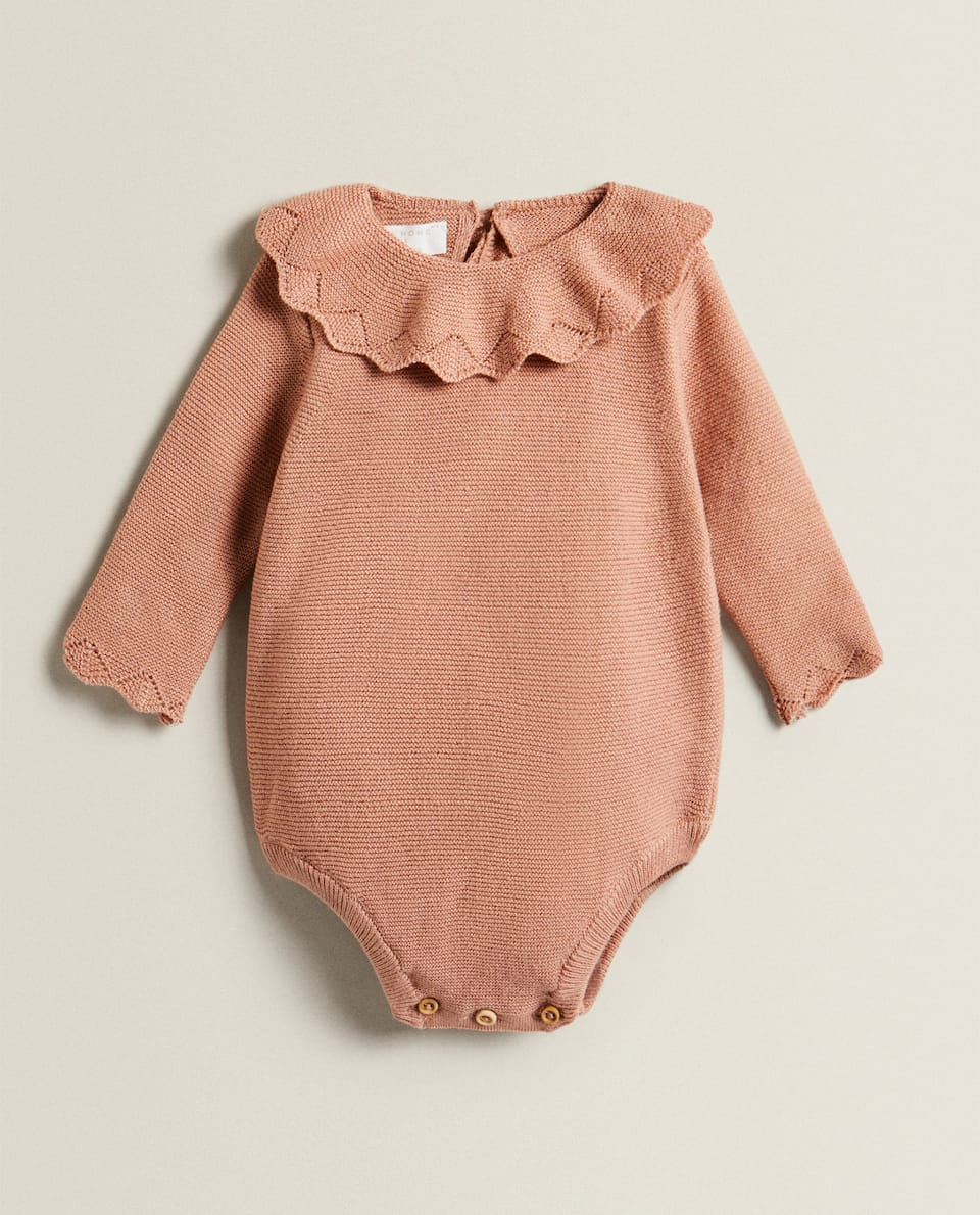 TRICOT BODYSUIT WITH RUFFLES
