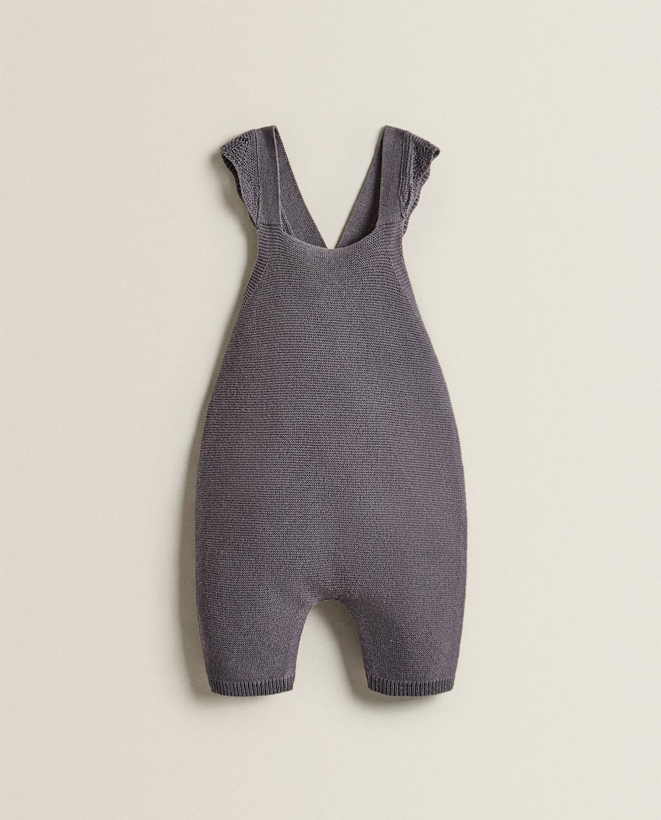 TRICOT DUNGAREES WITH BUTTONS