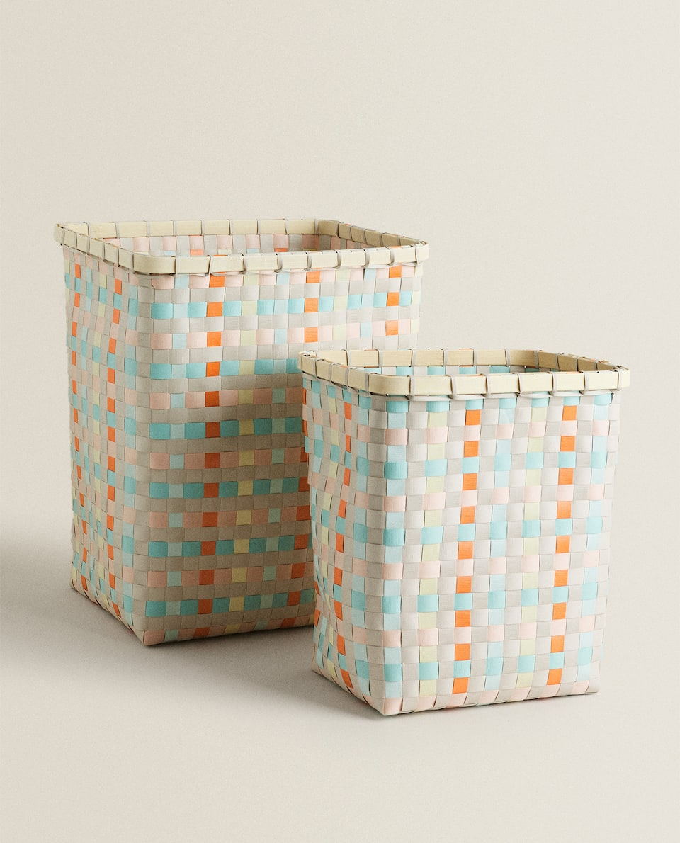 TALL BASKET WITH STRAP