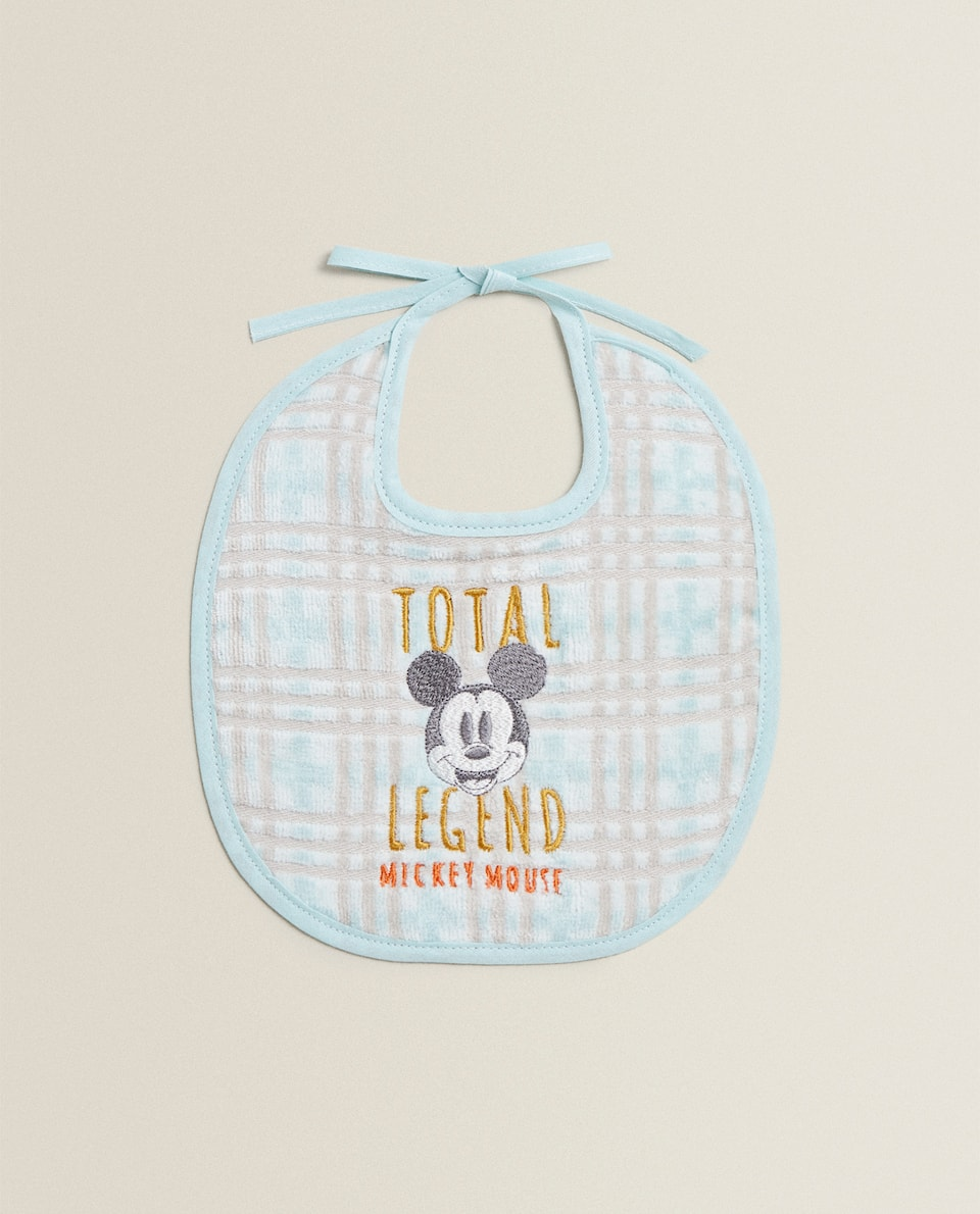 MICKEY MOUSE COTTON BIB