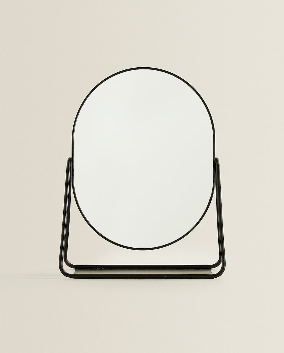 BLACK BORDER STAND-UP MIRROR