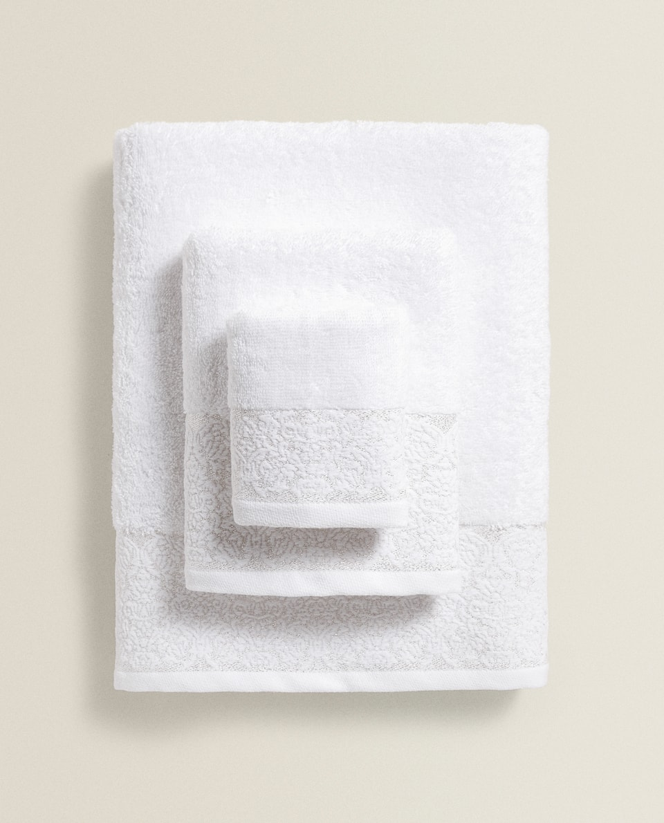 SERVIETTE DE BAIN BORDURE RELIEF