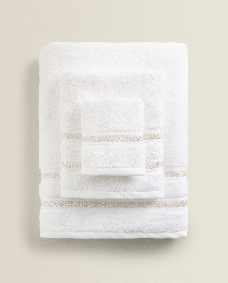 SHIMMER STRIPE TOWEL