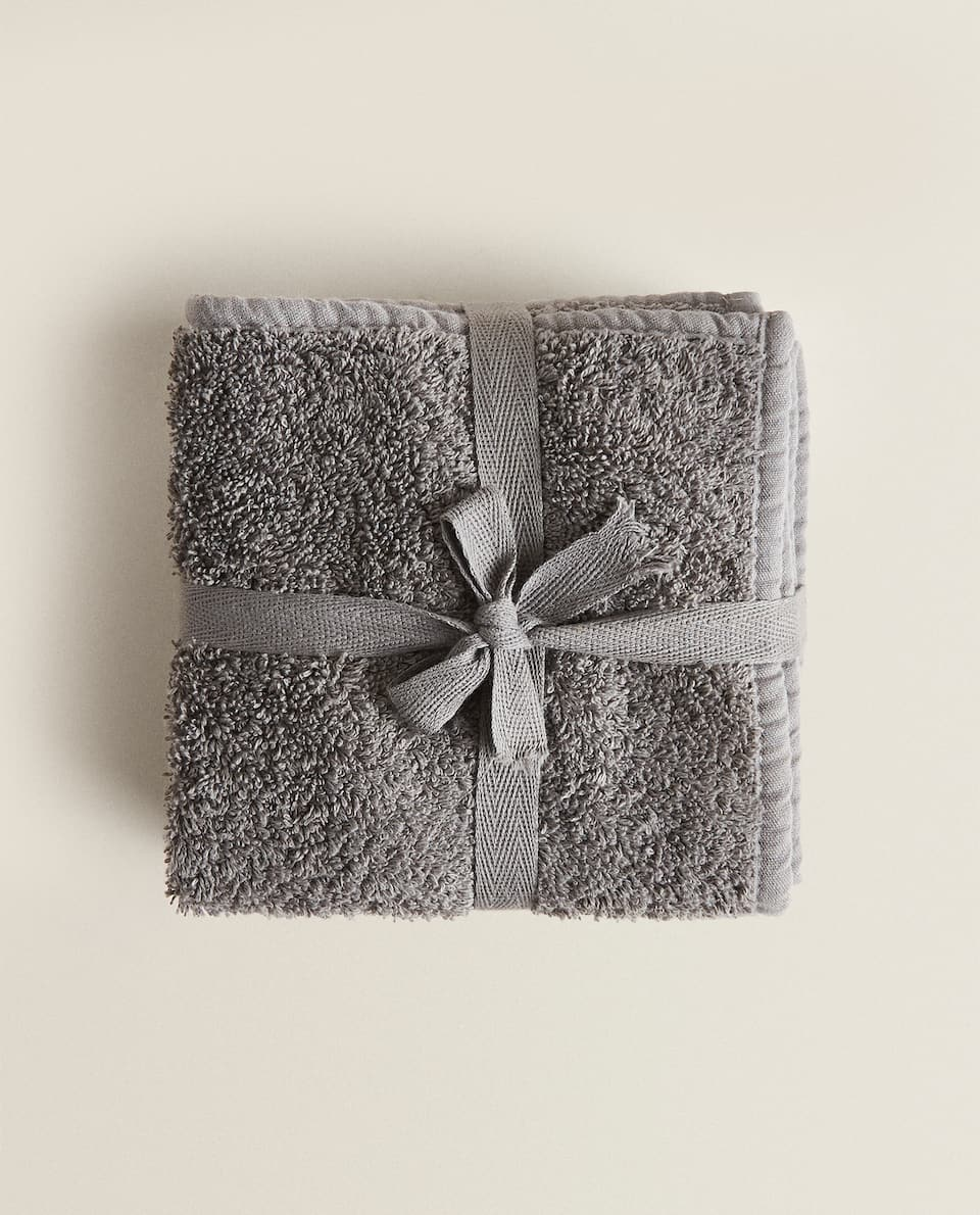 COTTON TOWEL WITH BIAS TRIM (PACK OF 3)