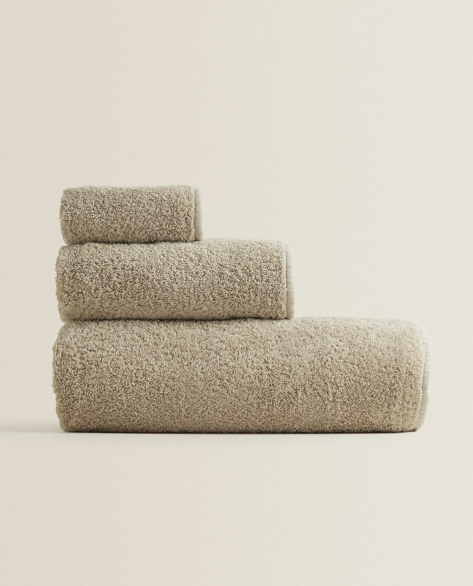 COTTON TOWEL WITH TRIM