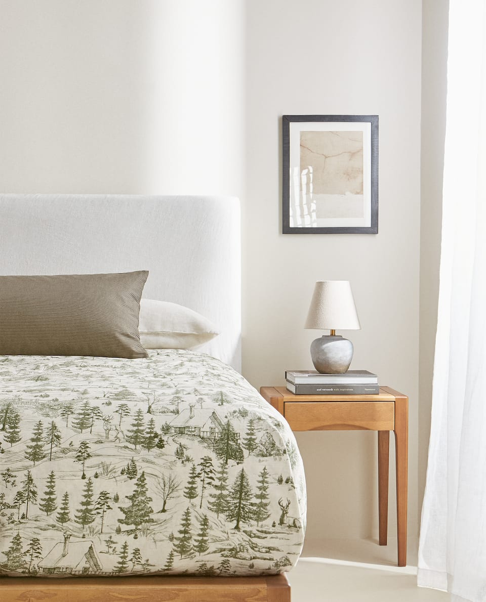 PINE TREE PRINT DUVET COVER