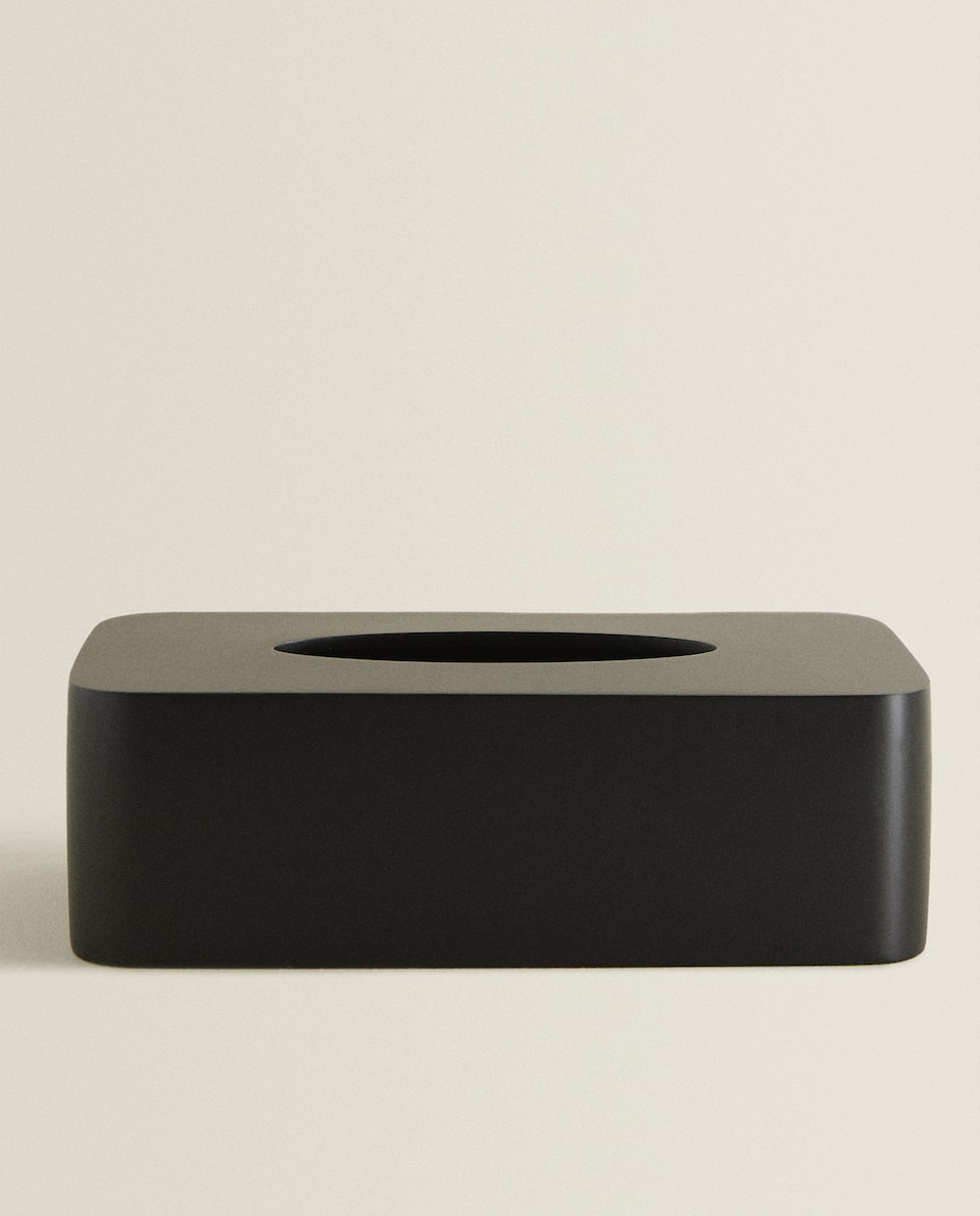 BLACK RESIN TISSUE BOX