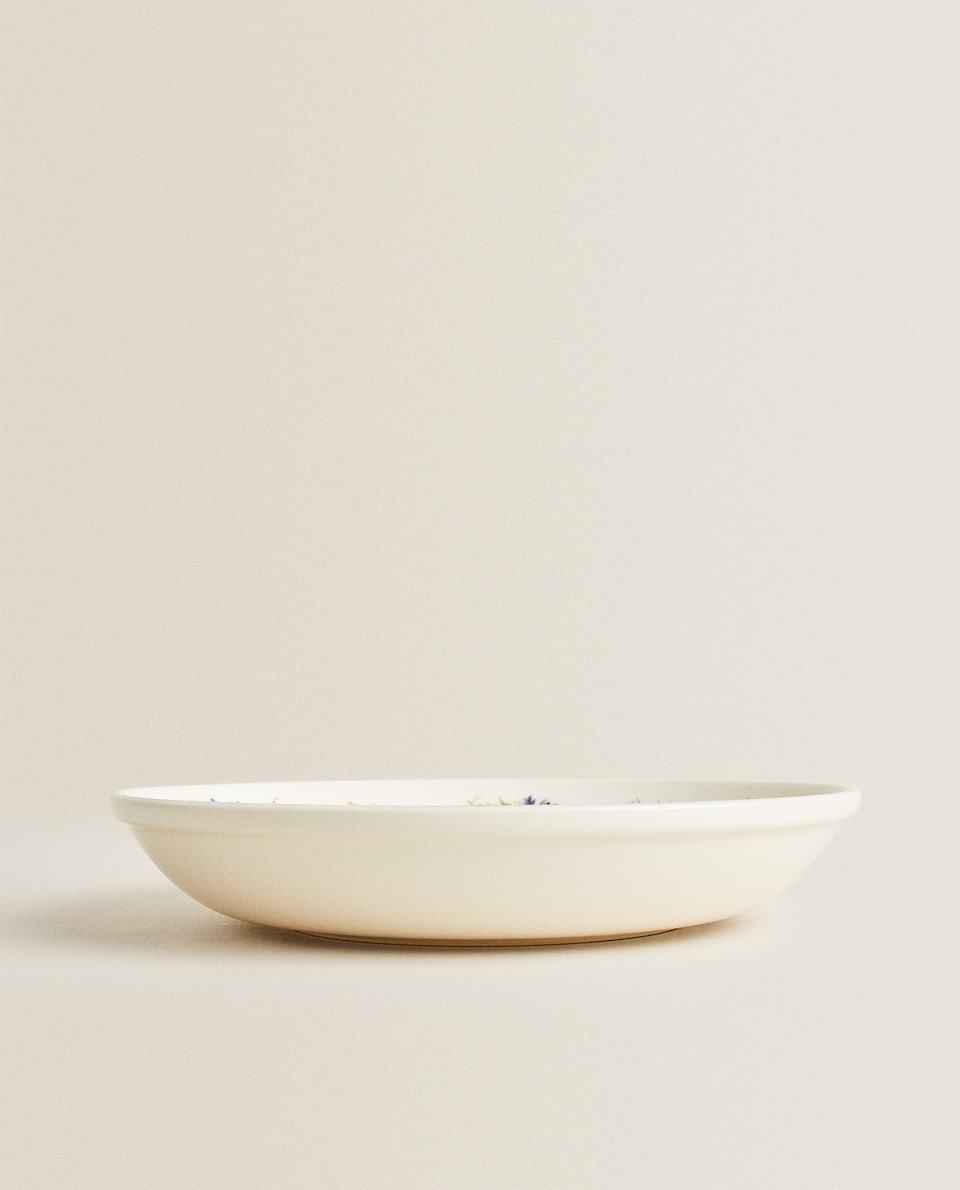 FLORAL EARTHENWARE SALAD BOWL