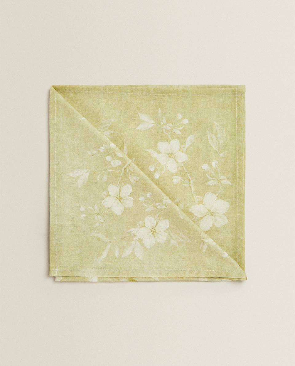 FLORAL PRINT NAPKIN (PACK OF 2)