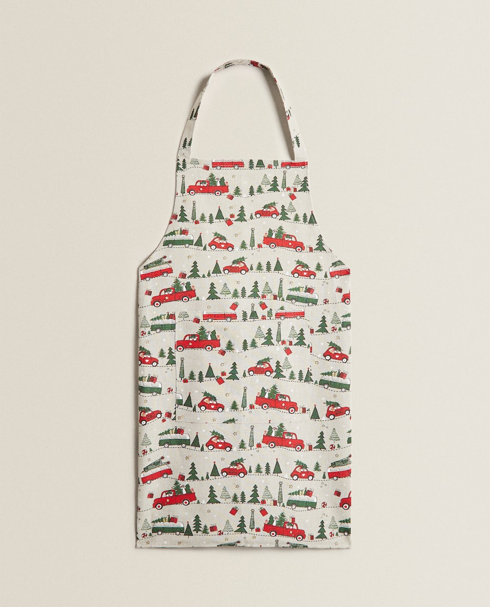 CHRISTMAS TREE PRINT APRON
