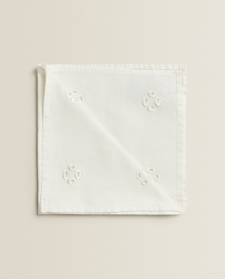 EMBROIDERED COTTON NAPKIN (PACK OF 2)
