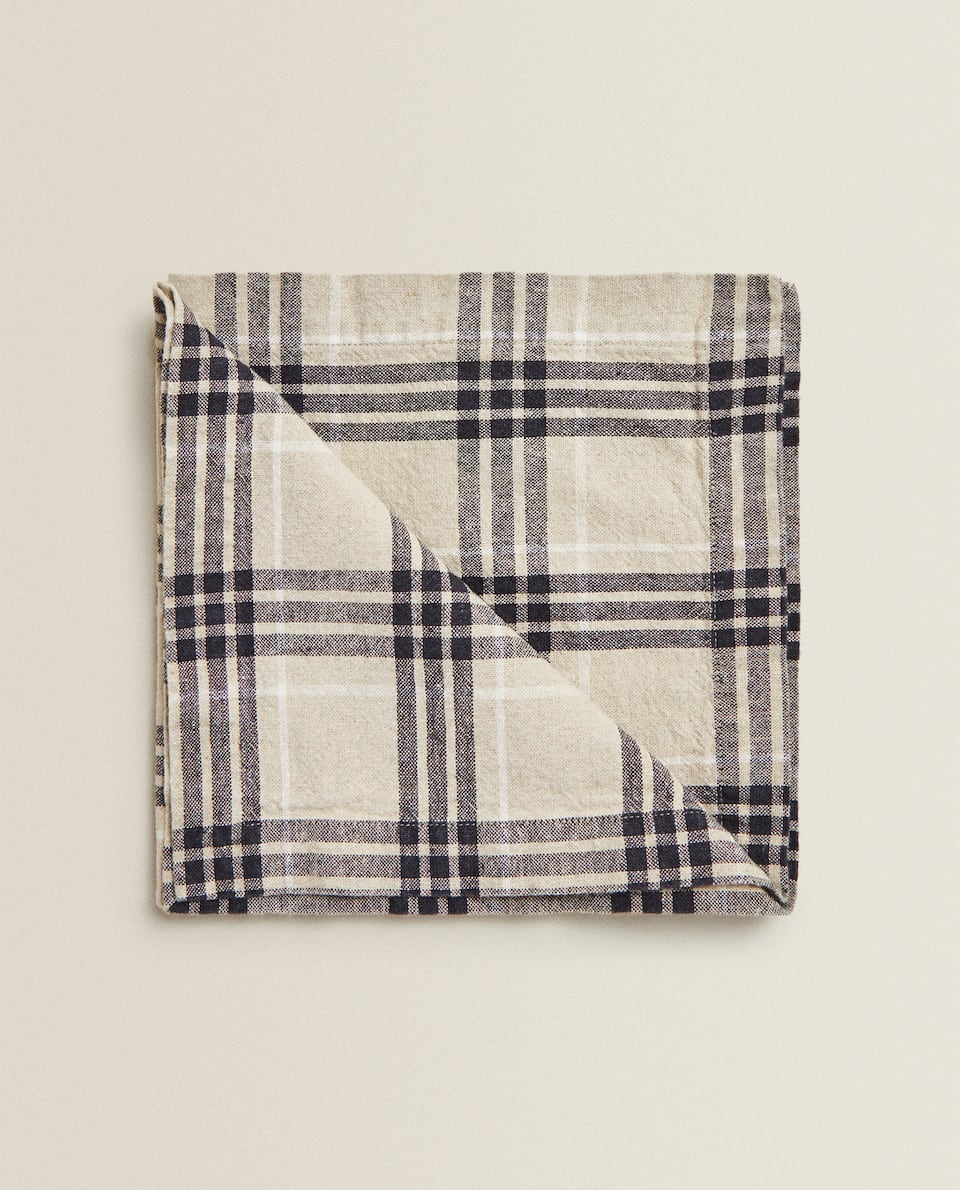CHECK LINEN NAPKIN (PACK OF 2)
