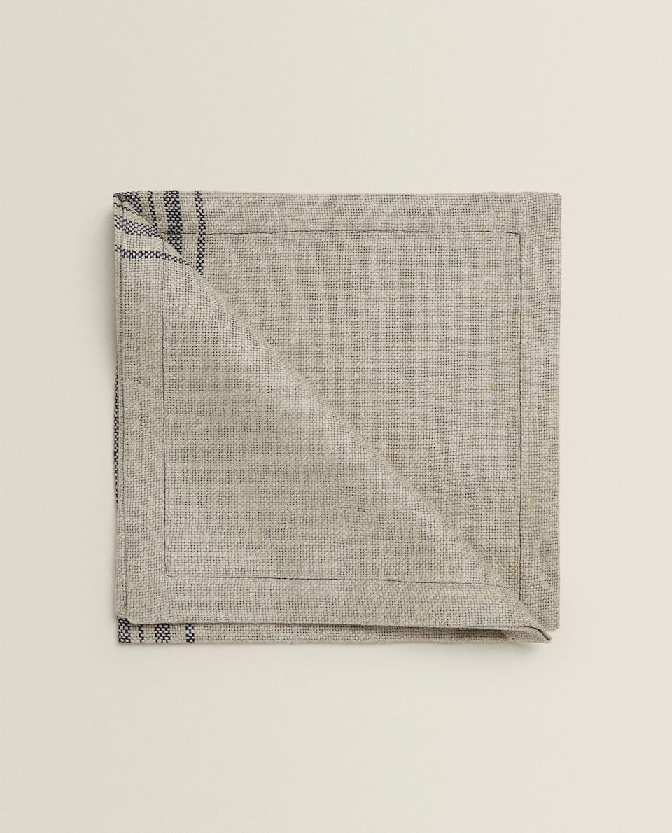 STRIPED LINEN NAPKIN