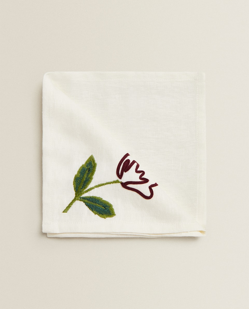 EMBROIDERED LINEN NAPKIN (PACK OF 2)