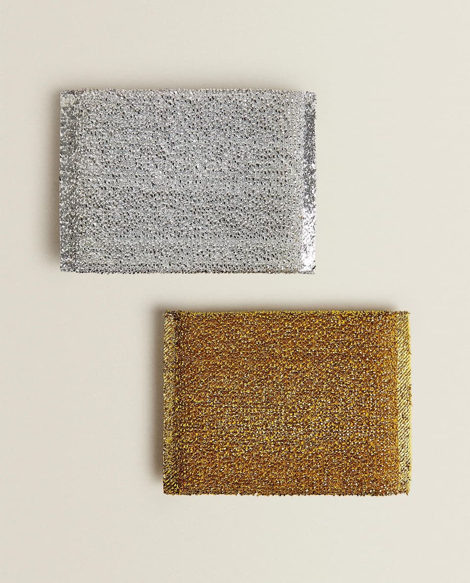 METALLIC FIBRE SCOURER (PACK OF 2)