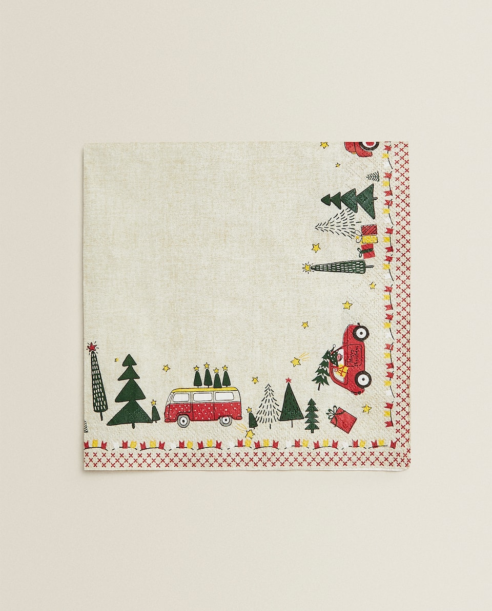 CHRISTMAS TREE PAPER NAPKINS (PACK OF 20)